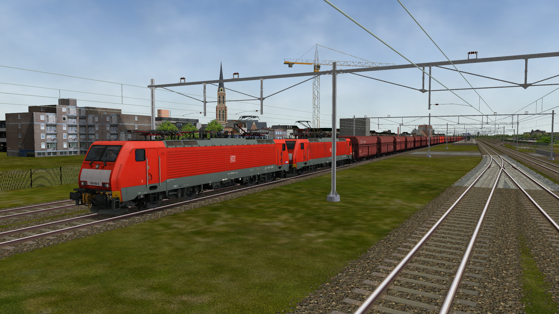 BR189 met ertstrein in Open Rails