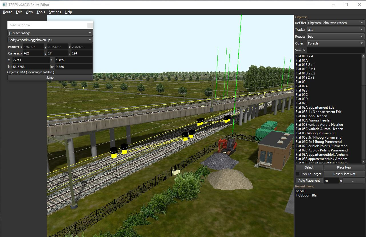 OR demoroute in TSRE5 route editor